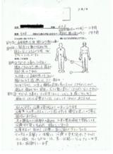 東京町田にお住まいの女性64歳外反母趾と坐骨神経痛の痛み直筆メッセージ
