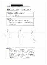 佐賀市高木瀬にお住まいの整備士64歳男性7年前から痛み直筆メッセージ